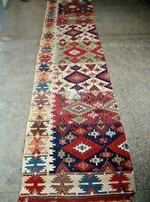 2 X 11 FT Antique Turkish Anatolian Kilim Runner,Long Turkish kilim hall way Rug