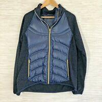 London Fog Women's Large Jacket Navy Puffer Jacket Sweater Lightweight Warm