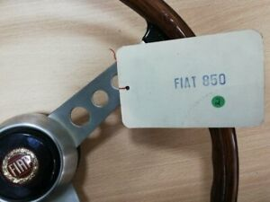 NOS AUTHENTIC Classic NOS SECURA FIV Wooden Steering Wheel FIAT 850 & Others