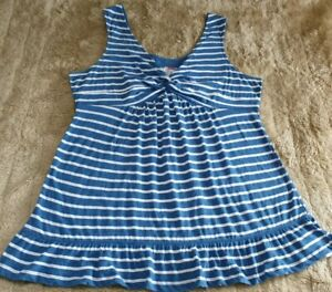 SIZE 18 FATFACE MINI DRESS/LG STRAPPY COTTON TOP,SCOOP KNOTTED HIGH W,EXC CON