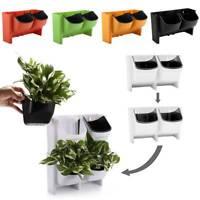 2-Pocket Stackable Vertical Garden Wall Hanging Planter Flower Pot HOT