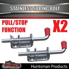X2 Truck Trailer Stainless Spring Bolt Latch Catch. 12X160MM. Tail Gate 4x4