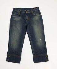 Gas jaxon 3/4 shorts pantalone corto bermuda jeans W28 42 donna usati blu T1648