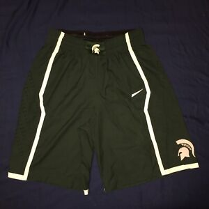 Nike Game Issued Shorts Michigan Spartans Size 38 NCAA Pro Cut Team Apparel