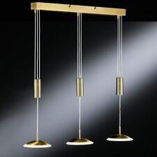 Design Leuchte LED Pendellampe Messing Pendelleuchte Hängeleuchte Hängelampe