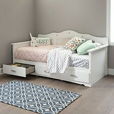 South Shore 10003 Tiara Twin Daybed With Storage 39In, Pure White NEW