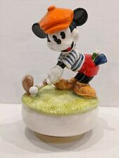 New Listingâ›³Golfing Mickey Mouse Music Box - Schmid Hand Painted