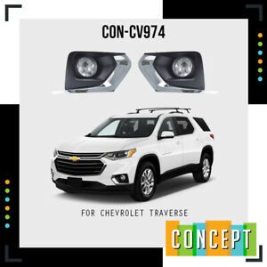 2018-2021 Chevrolet Traverse  Complete Fog Lamp Light with Bezels+Harness+Switch