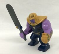 Marvel End Game Lego Minifigure Thanos USA FAST! Chrome Red Infinity Gauntlet