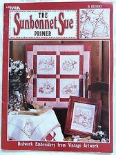 Sunbonnet Sue Redwork Embroidery Transfers Designs Pattern Book