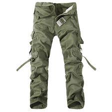Combat Men's Cotton Cargo ARMY Pants Casual Military Camouflage Camo Trousers