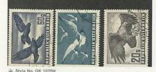 Austria, Postage Stamp, #C54, C56, C60 Used, 1950-53 Birds Airmail