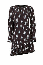 Derek Lam 10 Crosby Black Women's Size 6 Floral Sheath Dress Silk $495- #509