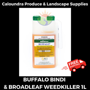 SUREFIRE BUFFALO BINDI & BROADLEAF WEEDKILLER 1 LITRE CONTROL GRASS WEEDS KILLER