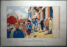 JUILLARD - Sérigraphie pochoir 1793 EPINAL- Rare