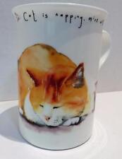 Leonardo Collection Mug Fast Asleep Cat Mice Will Play Bone China England