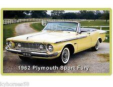 1962 Plymouth Sport Fury Auto Car Refrigerator / Tool Box Magnet