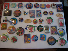 OLD DISNEY COLLECTIBLE MIXED LOT OF 40 PINBACKS, BUTTONS & MORE   LOT 2