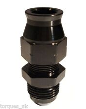 AN -6 (AN6) STRAIGHT To 10mm Tube Adapter Black