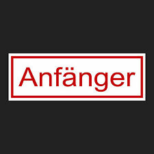 """Magnetschild Automagnet """"Anfänger"""" 210x70mm Fahranfänger Magnetaufkleber"""