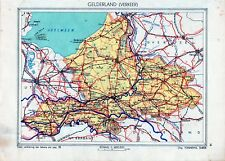 Antique map Gelderland verkeer traffic Netherlands 1936