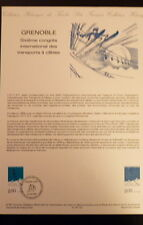 FRANCE MUSEE POSTAL FDC 27-87    TRANSPORTS A CABLES   2F   GRENOBLE   1987