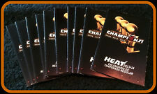 LOT OF 10 2013-14 MIAMI HEAT BUD LIGHT CHAMPIONS BASKETBALL POCKET SCHEDULES