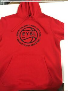 Nike Nationals EYBL Red Men's Hoodie **Brand New**-SM