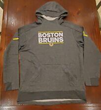 Boston Bruins Adidas Authentic NHL Squad Pullover Hoody SZ XL NWT $100 Men's