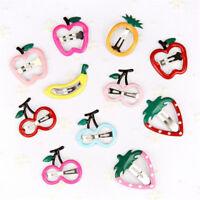 10Pcs Sweet Fruit Baby Kids Girl BB Hair Clip Hairpin Headwear Hair Accessories
