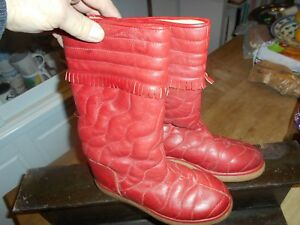 BOTTES ROUGE MINELLI  VINTAGE COLLECTOR T 35 A 24€ ACH IMM FP RED MOND RELAY TOP