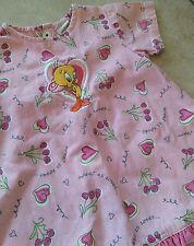 90's Warner Bros Tweedy Bird Baby Girl Dress Size 6M Pink WB Studio Store 1998