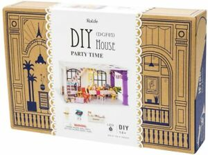 Rolife Wooden Dollhouse Kit Craft for Teens Festival Gift for Party Time