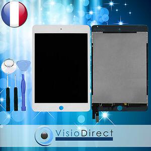 Ecran complet pour iPad Mini 4 blanc vitre tactile + ecran LCD + outils