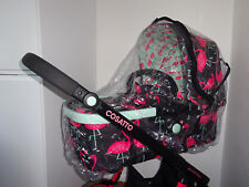 New RAINCOVER Zipped to fit Cosatto Giggle for Stroller Seat Unit & Carrycot