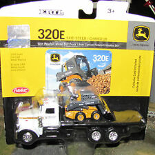1/64 Ertl John Deere 320E Skidsteer w/ Peterbilt 367 Truck