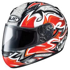 HJC CL-15 Mutant Adult Street Motorcycle Helmet Red Black White Tribal XSmall XS