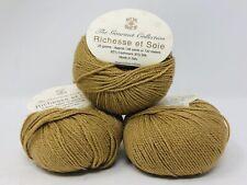 3 Balls One Crochet Too Richesse et Soie Cashmere/Silk Fingering Yarn NEW