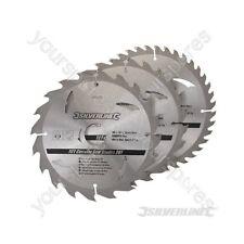Hojas De Sierra Circular TCT 20, 24, 40 T 3pk - 180 X 30 Anillos - 20, 16 mm