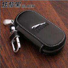 NEW Genuine Leather cowhide Car Key Holder Keychain Ring Case Bag For jaguar