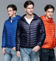 Men's Ultralight Hooded Duck Down Puffer Jacket Coat Warm Outwear Style