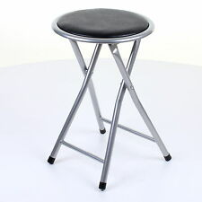 FOLDING STOOL ROUND BREAKFAST CHAIR SEATING PARTIES OFFICE HOME GARDEN PADDED