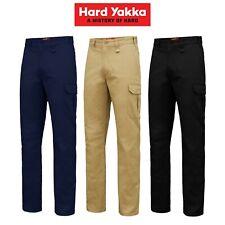 Mens Hard Yakka Core Basic Cargo Stretch Cotton Drill Work Pants Tradie Y02597