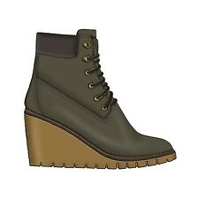 Timberland Paris Height 6in Canteen 8 Wide