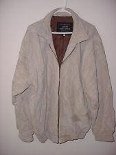 Giovanni Navarro Italian Stone Design Suede Leather Size X Large Jacket