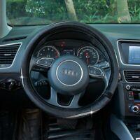 "ATMOMO 15"" Car Truck Steering Wheel PU Leather Cover Crystal Bling Rhinestone 1x"