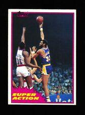 1981-82 TOPPS SET BREAK KAREEM ABDUL-JABBAR SUPER ACTION #104 LAKERS NRMT 2