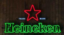 """Heineken LED Neon 30"""" Logo Est. 1873 Beer Bar Sign"""
