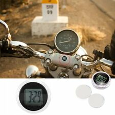 Moto Bike Motorcycle Clock Watch Waterproof Stick-On Motorbike Digital Clock LW