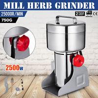 750g High Speed Electric Herb Grain Grinder Cereal Mill Flour Powder Machine